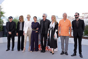 "Sara Driver, Tilda Swinton, Selena Gomez, Jim Jarmusch, Chloe Sevigny, Bill Murray attend the photocall for ""The Dead Don't Die"" during the 72nd annual Cannes Film Festival on May 15, 2019 in Cannes, France."