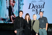 James Marsden, Linda Cardellini, Liz Feldman and Michael O'Connell attend Dead To Me SAG NOM COMM at Netflix Home Theater on November 10, 2019 in Los Angeles, California.