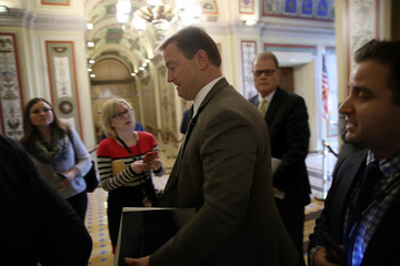 Dean Heller Senate Republicans Hold Conference Meeting to Discuss Tax Reform