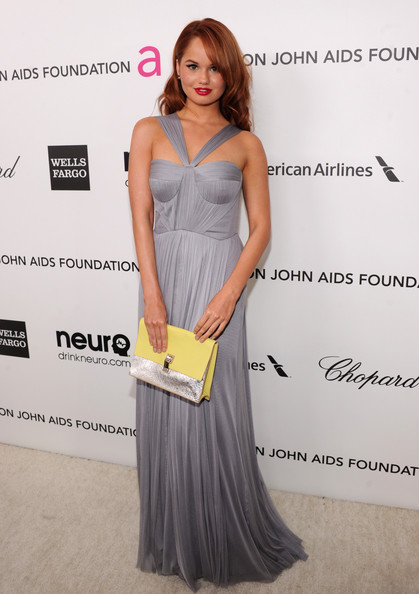 Debby Ryan - 21st Annual Elton John AIDS Foundation Academy Awards Viewing Party - Red Carpet