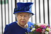 """Britain's Queen Elizabeth II attends the unveiling of The Iraq and Afghanistan memorial at Victoria Embankment Gardens in central London on March 9, 2017..The preceding """"Service of Dedication"""" honoured the service and duty of both the UK Armed Forces and civilians in the Gulf region, Iraq and Afghanistan, and those who supported them back home, from 1990-2015 / AFP PHOTO / POOL / Toby Melville"""