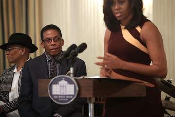 Dee Dee Bridgewater First Lady Michelle Obama Welcomes High School Students for History of Jazz Student Workshop