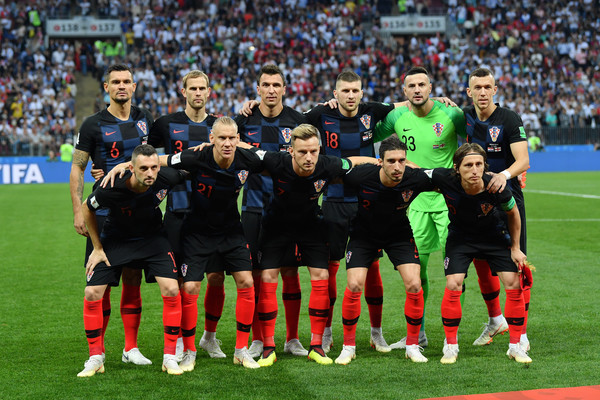 England vs. Croatia: Semi Final - 2018 FIFA World Cup Russia [team photo,sports,team,team sport,ball game,player,sport venue,football player,stadium,soccer,soccer player,players,croatia,russia,luzhniki stadium,moscow,england,2018 fifa world cup,match,russia semi final]