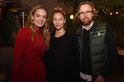 Delete Blood Cancer Co-founder Katharina Harf, Ambre Dahan, and director Joachim Ronning attend the Delete Blood Cancer DKMS Dinner at Terrine on November 12, 2015 in Los Angeles, California.