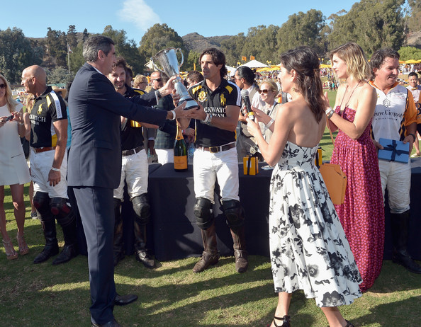 Fifth-Annual Veuve Clicquot Polo Classic, Los Angeles [event,social group,community,crowd,fun,ceremony,f\u00eate,dress,pole,wedding,nacho figueras,president,jean-marc gallot,delfina blaquier,vanessa kay,l-r,los angeles,usa,will rogers state historic park,veuve clicquot polo classic]