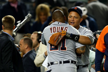 Delmon Young ALCS - Detroit Tigers v New York Yankees - Game Two