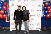 Delta Air Lines Celebrates The New York Yankees At LaGuardia Airport With Yankees Champions Bernie Williams And Johnny Damon