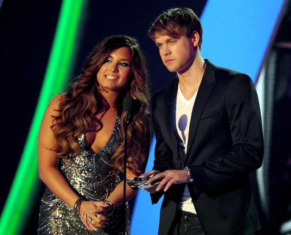 Demi Lovato Singer/actress Demi Lovato (L) and actor Chord Overstreet perform onstage during the 2011 MTV Video Music Awards at Nokia Theatre L.A. LIVE on August 28, 2011 in Los Angeles, California.
