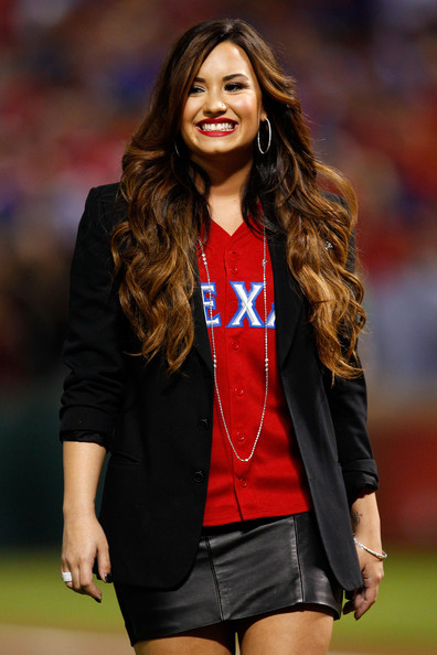 Demi Lovato - 2011 World Series Game 5 - St Louis Cardinals v Texas Rangers