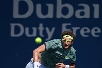 Denis Istomin ATP Dubai Duty Free Tennis  Championship - Day Two