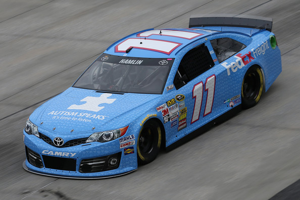 Denny Hamlin's Autism Awareness Paint Scheme
