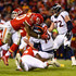 Justin Houston Trevor Siemian Photos - Outside linebacker Justin Houston #50 of the Kansas City Chiefs hits quarterback Trevor Siemian #13 of the Denver Broncos during the second half of the game at Arrowhead Stadium on October 30, 2017 in Kansas City, Missouri. - Denver Broncos vKansas City Chiefs