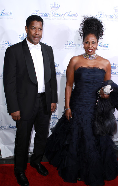 Denzel Washington and Pauletta Washington - 2010 Princess Grace Awards Gala
