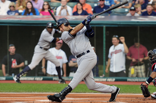 Have Derek jeter swinging