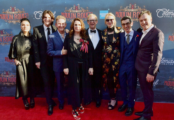 The Grand Re-Opening Of Boston's Emerson Colonial Theatre With 'Moulin Rouge! The Musical' [moulin rouge,musical,red carpet,carpet,premiere,event,flooring,catherine zuber,justin levine,justin townsend,l-r,boston,emerson colonial theatre,grand re-opening,re-opening]