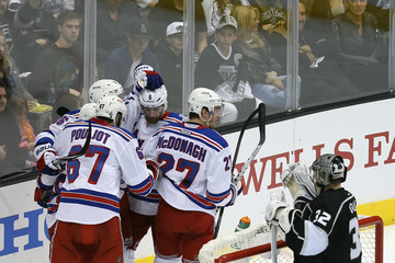 Derick Brassard Dan Girardi 2014 NHL Stanley Cup Final - Game Two