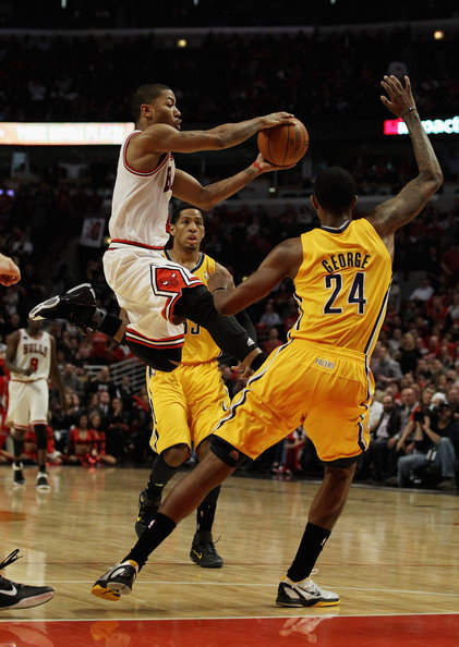 5f188a740e6 Derrick Rose and Paul George Photos»Photostream · Pictures · Indiana Pacers  v Chicago Bulls - Game Five