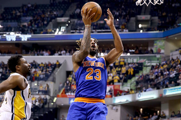 Derrick Williams New York Knicks v Indiana Pacers