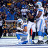Golden Tate Photos - Golden Tate #15 of the Detroit Lions takes a knee after scoring a touchdown in the third quarter against the St. Louis Rams at the Edward Jones Dome on December 13, 2015 in St. Louis, Missouri. - Detroit Lions v St Louis Rams