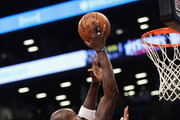 Kevin Garnett #2 of the Brooklyn Nets misses a shot during the fourth quarter against the Detroit Pistons at the Barclays Center on November 24, 2013 in the Brooklyn borough of New York City. NOTE TO USER: User expressly acknowledges and agrees that, by downloading and or using this Photograph, user is consenting to the terms and conditions of the Getty Images License Agreement. The Pistons defeated the nets 109-97.