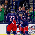 Ian Cole Photos - Matt Calvert #11 of the Columbus Blue Jackets is congratulated by Ian Cole #23 of the Columbus Blue Jackets after scoring a goal during the game against the Detroit Red Wings on March 9, 2018 at Nationwide Arena in Columbus, Ohio. - Detroit Red WIngs vs. Columbus Blue Jackets