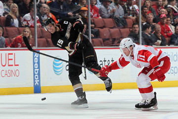 Dan Cleary Detroit Red Wings v Anaheim Ducks