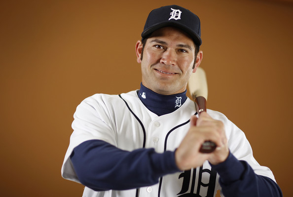 Johnny Damon #18 of the Detroit Tigers poses during photo day at the Detroit Tigers Spring Training facility on February 27, 2010 in Lakeland, Florida.