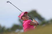 Lexi Thompson watches her tee shot on the third hole during the third round of the Diamond Resorts Tournament of Champions at Tranquilo Golf Course at Four Seasons Golf and Sports Club Orlando on January 19, 2019 in Lake Buena Vista, Florida.
