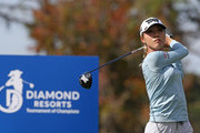 Lydia Ko of New Zealand hits watches her tee shot on the fourth hole during the third round of the Diamond Resorts Tournament of Champions at Tranquilo Golf Course at Four Seasons Golf and Sports Club Orlando on January 19, 2019 in Lake Buena Vista, Florida.