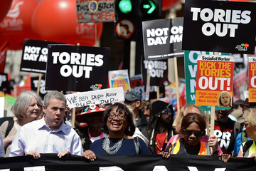 Diane Abbott Not One Day More Protest Against Theresa May Takes Place in London