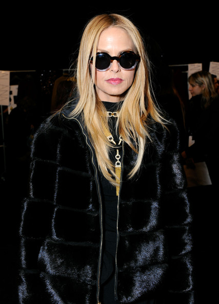 Stylist Rachel Zoe poses backstage at the Diane Von Furstenberg Fall 2012 fashion show during Mercedes-Benz Fashion Week at The Theatre at Lincoln Center on February 12, 2012 in New York City.