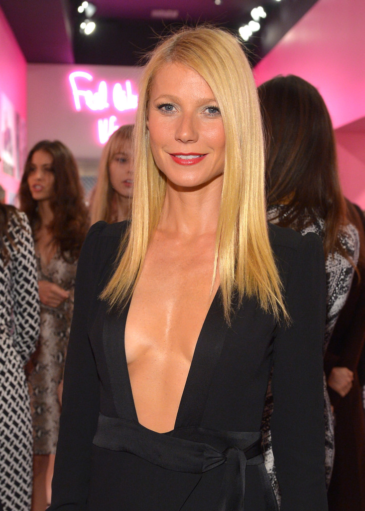 Actress Gwyneth Paltrow, wearing Diane Von Furstenberg, attends Diane Von Furstenberg's Journey of A Dress Exhibition Opening Celebration at May Company Building at LACMA West on January 10, 2014 in Los Angeles, California.