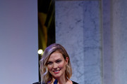 Karlie Kloss speaks at the DVF 2020 Awards at the Library of Congress on February 19, 2020 in Washington, DC.