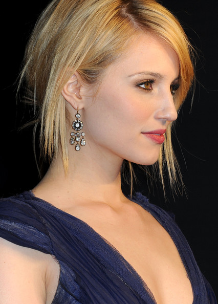 Dianna Agron Actress Dianna Agron (jewelry detail) arrives at the Vanity