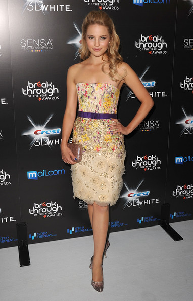 2010 Breakthrough Of The Year Awards - Arrivals [fashion model,flooring,shoulder,cocktail dress,catwalk,fashion,dress,joint,carpet,fashion design,arrivals,dianna agron,crest 3d white,breakthrough of the year awards,west hollywood,california,pacific design center]