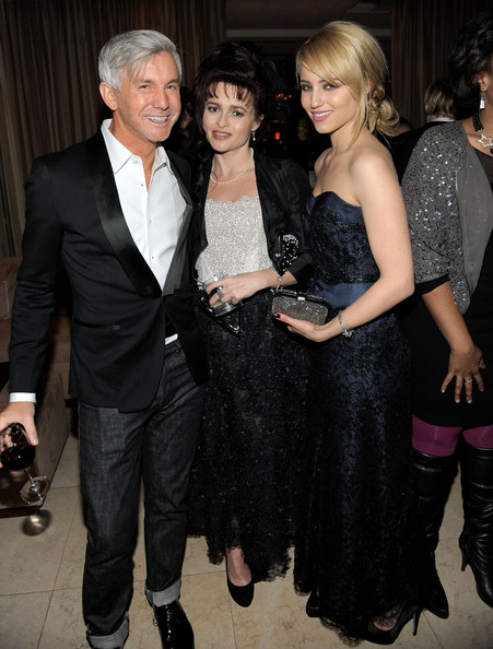 Dianna Agron (L-R) Director Baz Luhrmann and actresses Helena Bonham Carter and Dianna Agron attend The Weinstein Company's SAG after-party hosted by Dewars at Sunset Towers on January 30, 2011 in West Hollywood, California.