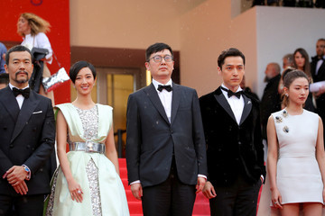 Diao Yinan 'The Wild Goose Lake (Nan Fang Che Zhan De Ju Hui/ Le Lac Aux Oies Sauvages)' Red Carpet - The 72nd Annual Cannes Film Festival
