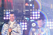 Jordan Knight and Danny Wood of New Kids on the Block perform on stage during Dick Clark's New Year's Rockin' Eve With Ryan Seacrest 2019 on December 31, 2018 in New York City.