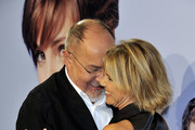 """Spanish director Bigas Luna and Duchess of Montoro Eugenia Martinez de Irujo attend """"Didi Hollywood"""" premiere at the Capitol cinema on October 13, 2010 in Madrid, Spain."""