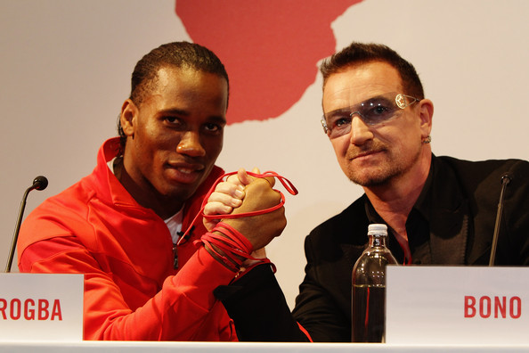 Didier Drogba Bono Photos - NIKE & (RED) Charity ...