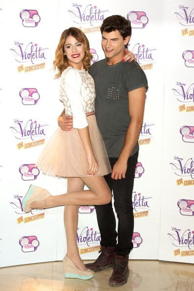 'Violetta' Madrid Photo Call [violetta,madrid photocall,clothing,fashion,footwear,hairstyle,leg,joint,fashion design,cocktail dress,tights,shoe,diego dominguez,martina stoessel,madrid,spain,emperador hotel,photocall]