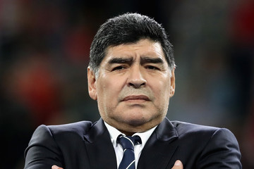 Diego Maradona Chile v Germany: Final - FIFA Confederations Cup Russia 2017