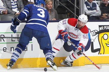 Dion Phaneuf Montreal Canadiens v Toronto Maple Leafs