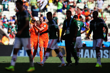 Dirk Kuyt Ron Vlaar Netherlands v Mexico: Round of 16 - 2014 FIFA World Cup Brazil