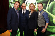 (L-R) Marc Murphy, Alton Brown, Amanda Freitag, and Ted Allen attend Discovery Inc. 2019 NYC Upfront at Alice Tully Hall on April 10, 2019 in New York City.