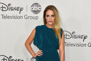 Carly Chaikin in deep sea blue  - Best & Worst Dressed - 2012 Television Critics Association