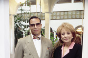 """""""20/20"""" - 4/22/94 .Barbara Walters interviewed Head of the Nation of Islam leader, the Honorable Minister Louis Farrakhan on ABC News' """"20/20"""" airing on the ABC Television Network. .(Photo by ABC Photo Archives via Getty Images)  .LOUIS FARRAKHAN, BARBARA WALTERS"""
