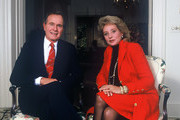 """20/20 - 10/6/87 .BARBARA WALTERS interviewed President GEORGE BUSH on Oct. 6, 1987 for ABC News """"20/20"""" airing on the ABC Television Network. .(Photo by Donna Svennevik/ABC via Getty Images).GEORGE BUSH, BARBARA WALTERS"""