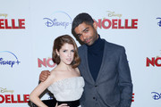 """Anna Kendrick and Kingsley Ben-Adir attend the Disney + Premiere Of """"Noelle"""" at SVA Theatre on November 11, 2019 in New York City."""