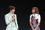 (L-R) Graham Verchere and Grace VanderWaal of 'Stargirl' took part today in the Disney+ Showcase at Disney's D23 EXPO 2019 in Anaheim, Calif.  'Stargirl' will stream exclusively on Disney+, which launches November 12.